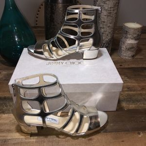 NWT Gold Metallic Jimmy Choo Sandals Orig$795